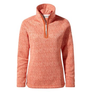 Craghoppers Braemar Half-Zip Fleece Warm Ginger Marl