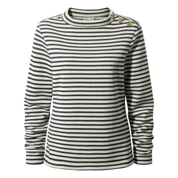 Craghoppers Balmoral Crew Neck Fleece Calico / Blue Navy Stripe