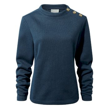 Craghoppers Balmoral Crew Neck Fleece Loch Blue Marl