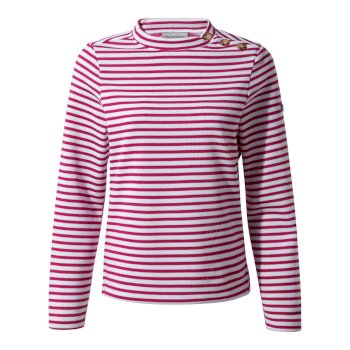Craghoppers Balmoral Crew Neck - Amalfi Rose Stripe