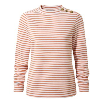 Craghoppers Balmoral Crew Neck - Soft Apricot Stripe