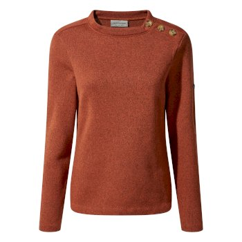 Craghoppers Balmoral Crew Neck Fleece Warm Ginger Marl