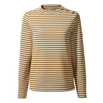 Craghoppers Balmoral Crew Neck - Spiced Copper Stripe