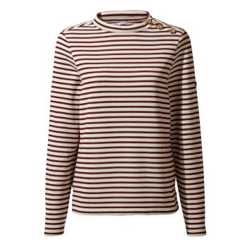 Craghoppers Balmoral Crew Neck - Wildberry Stripe