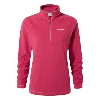 Craghoppers Miska V Half-Zip Fleece - Vivacious Pink