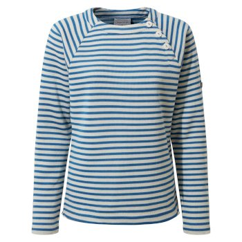 Craghoppers Neela Crew Neck - Persian Blue Stripe