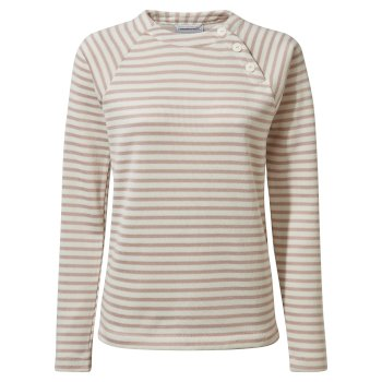 Craghoppers Neela Crew Neck - Brushed Lilac Stripe