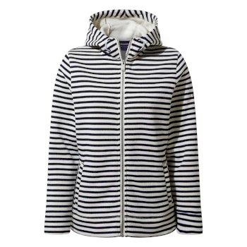 Craghoppers Amelie Hooded Jacket - Blue Navy Stripe