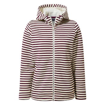 Craghoppers Amelie Hooded Jacket - Potent Plum Stripe