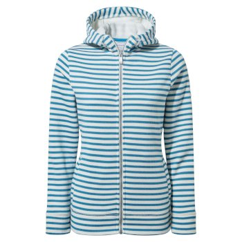 Craghoppers Amelie Hooded Jacket - Mediterraean Blue Stripe