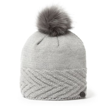 Craghoppers Maria Knit Hat - Soft Grey Marl