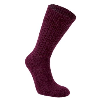 Craghoppers Womens Wool Hiker Sock Rioja Red  Marl