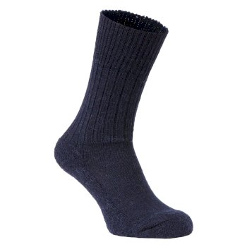 Craghoppers Womens Wool Hiker Sock - Dark Navy Marl