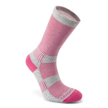 Craghoppers Heat Regulating Travel Sock - Electric Pink / Dove Grey