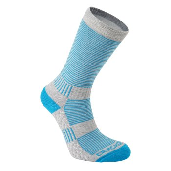 Craghoppers Heat Regulating Travel Sock - Aegean Blue / Dove Grey