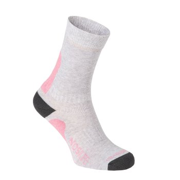 Craghoppers NosiLife Adventure Sock - Soft Grey Marl / Black Pepper