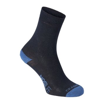 Craghoppers Womens NosiLife Twin Pack Socks Dark Navy / Soft Denim