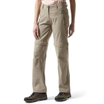 Craghoppers NosiLife Pro Convertible Trousers - Mushroom