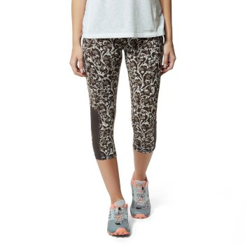 Craghoppers NosiLife Luna Cropped Tight - Charcoal / Dove Grey Print