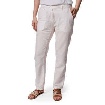 Craghoppers Rosa Trousers - Seashell Pink Railroad