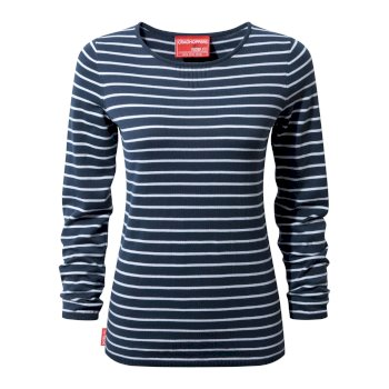 NosiLife Camille Crew-Neck Night Blue / Optic Whte
