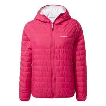 Craghoppers Compresslite III Hooded Jacket - Vivacious Pink