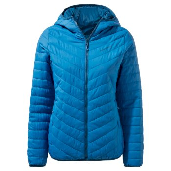 Craghoppers Compresslite V Hooded Jacket - Persian Blue