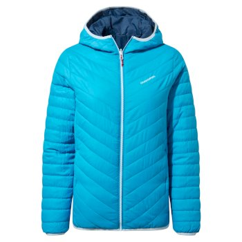 Craghoppers Compresslite V Hooded Jacket - Mediterranean Blue