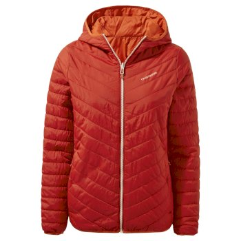 Craghoppers Compresslite V Hooded Jacket - Vintage Red