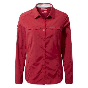 Craghoppers NosiLife Adventure Long-Sleeved Shirt - Fire Red