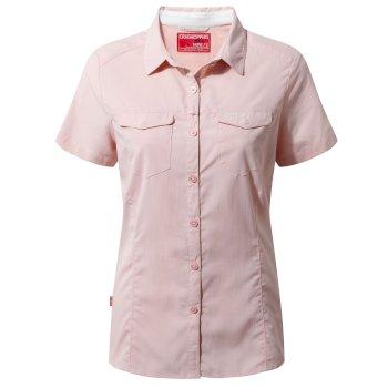 Craghoppers NosiLife Adventure Short-Sleeved Shirt - Blossom Pink
