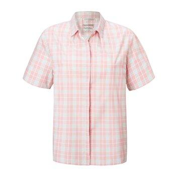 Craghoppers Natalie Short Sleeved Shirt English Rose