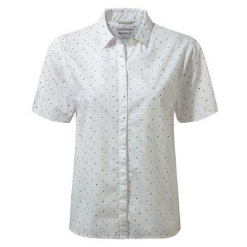Craghoppers Natalie Short-Sleeved Shirt Optic White Combo