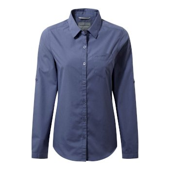 Craghoppers Kiwi Long Sleeved Shirt China Blue
