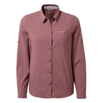Craghoppers NosiLife Bardo Long Sleeved Shirt - Cassis