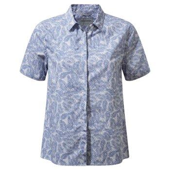 Craghoppers Silla Short Sleeved Shirt China Blue