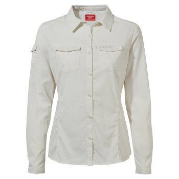 Craghoppers NosiLife Adventure II Long Sleeved Shirt - Sea Salt