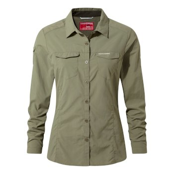 Craghoppers NosiLife Adventure II Long Sleeved Shirt - Soft Moss