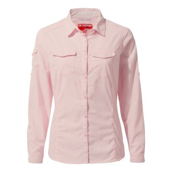 Craghoppers NosiLife Adventure II Long Sleeved Shirt - Seashell Pink