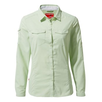 Craghoppers NosiLife Adventure II Long Sleeved Shirt - Soft Pistachio