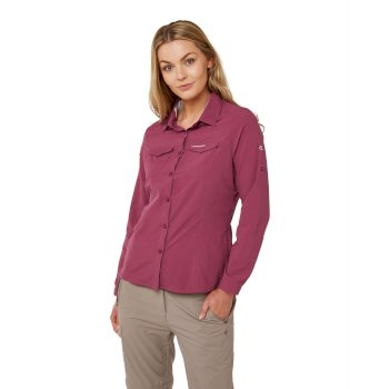 Craghoppers NosiLife Adventure II Long Sleeved Shirt - Amalfi Rose