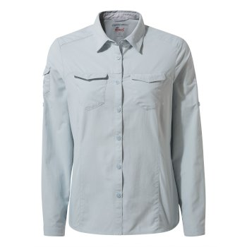 Craghoppers NosiLife Adventure II Long Sleeved Shirt - Mineral Blue