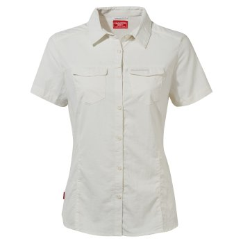 Craghoppers NosiLife Adventure II Short Sleeved Shirt  - Sea Salt