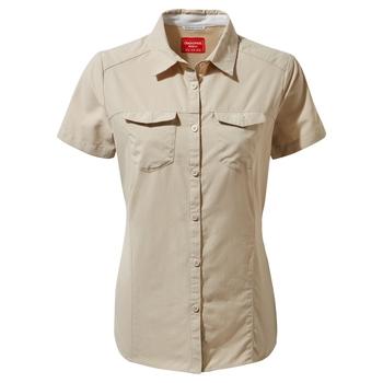 Craghoppers NosiLife Adventure II Short Sleeved Shirt  - Desert Sand