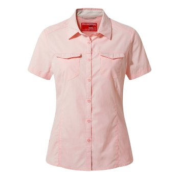 Craghoppers NosiLife Adventure II Short Sleeved Shirt  - Seashell Pink