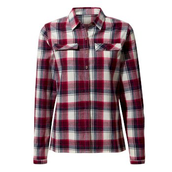 Craghoppers Dauphine Long-Sleeved Shirt - Winter Rose Check