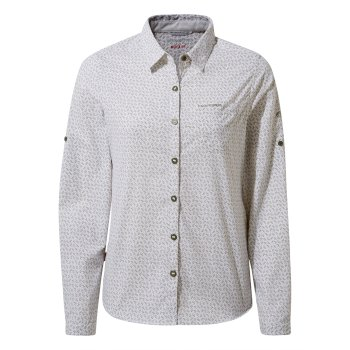 Craghoppers Nosilife Gisele Long Sleeved Shirt - Soft Moss Print
