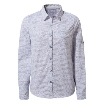 Craghoppers Nosilife Gisele Long Sleeved Shirt - Paradise Blue Print