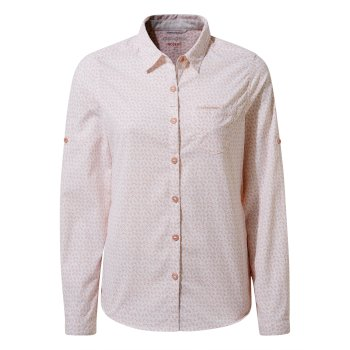 Craghoppers Nosilife Gisele Long Sleeved Shirt - Corsage Pink Print