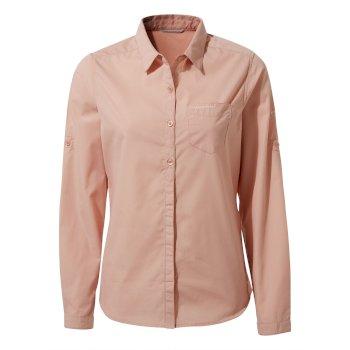 Craghoppers Kiwi II Long Sleeved Shirt - Corsage Pink